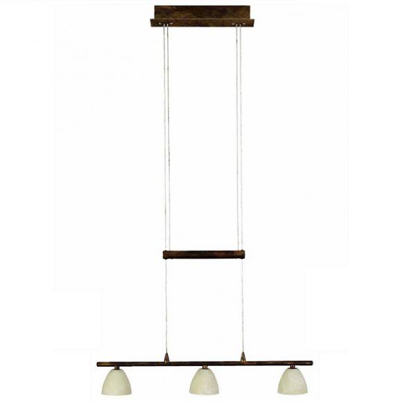 pendelleuchte mit h henverstellbarem leuchtenbalken 3 flammig inklusive leuchtmittel wohnlicht. Black Bedroom Furniture Sets. Home Design Ideas