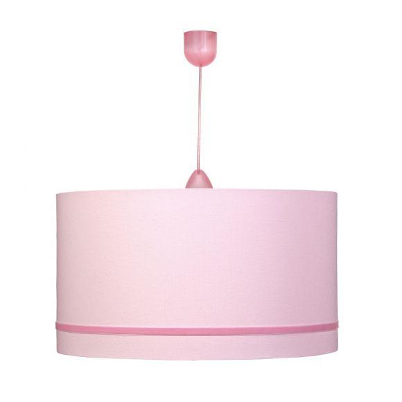Pendelleuchte mit Schirm in rosa, zwei Varianten