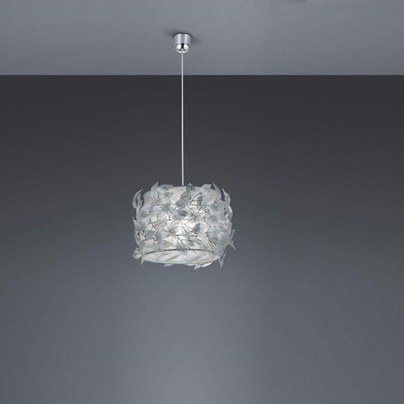 Pendelleuchte Nest aus Kunststoff - Ø 30cm in silber