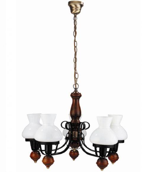 Pendelleuchte Petronel 5 flammig - dekorative Lichtlösung im Petro-Stil