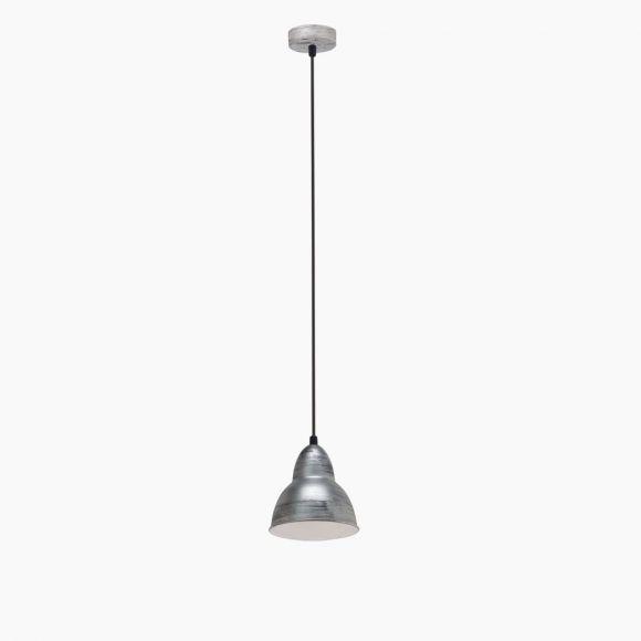 Pendelleuchte im Vintage-Stil - Silber-Antik - Für Leuchtmittel E27 60 Watt