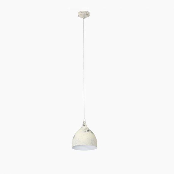 Pendelleuchte im Vintage-Stil - Weiß gekalkt - Für Leuchtmittel E27 60 Watt