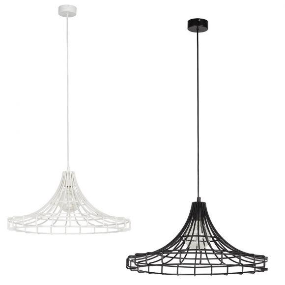 Pendelleuchte Wire aus Metall - Schwarz oder Weiß