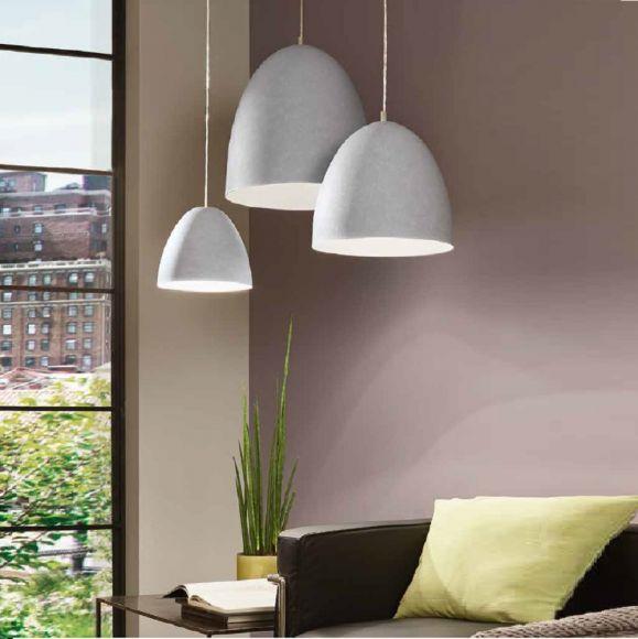 Pendelleuchte, Beton-Optik, LED geeignet, 4 Größen