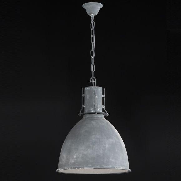Pendelleuchte, Industrial-Look, Fabrikleuchte, D=42cm, beton matt