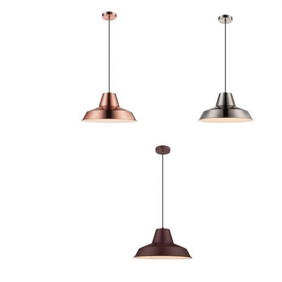 Pendelleuchte, Industrie-Stil, D=40cm, 3 Farben, E27 LED einsetzbar