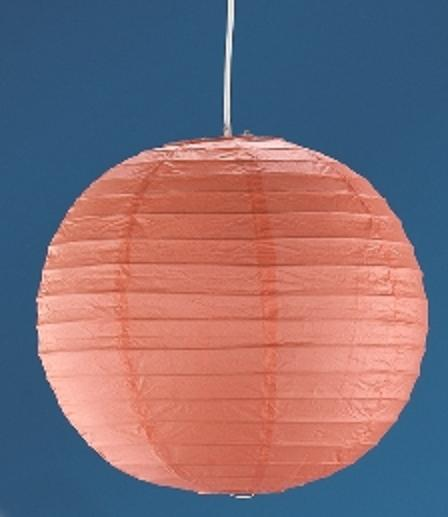 LHG Pendelleuchte, Japankugel, orange, D 50 cm, inkl. Schnurpendel