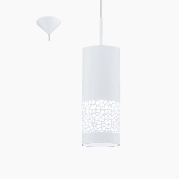 Pendelleuchte, Kunststoffschirm, weiß