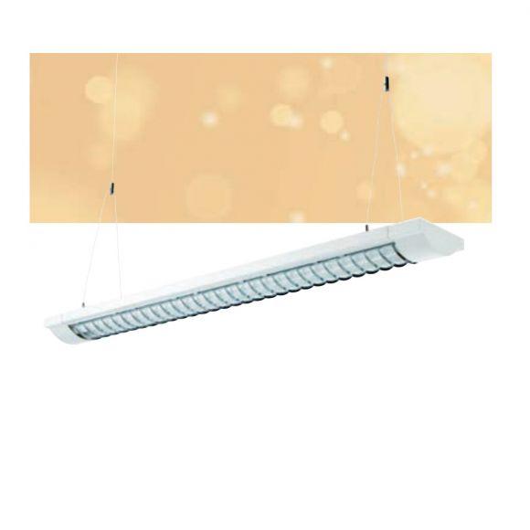 Rasterpendelleuchte in weiß - 36 Watt Röhre