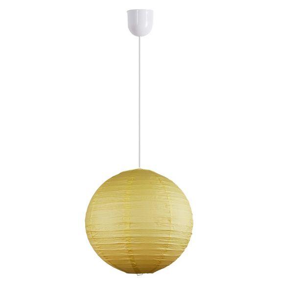 Reis-Papierlampenschirm Ø in 30cm in gelb