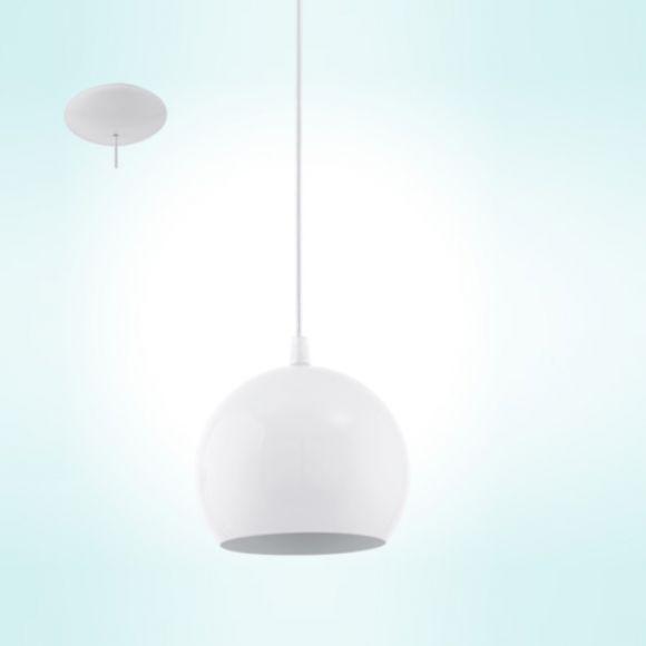 Retro-Stil LED-Pendelleuchte Kugel weiß, 1-flammig