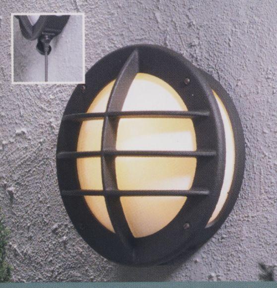 runde aussenwandleuchte mit integrierter steckdose in matt schwarz wohnlicht. Black Bedroom Furniture Sets. Home Design Ideas