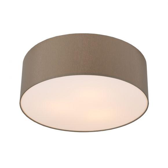 runde deckenleuchte schirm aus chintz stoff grau braun 52 cm wohnlicht. Black Bedroom Furniture Sets. Home Design Ideas