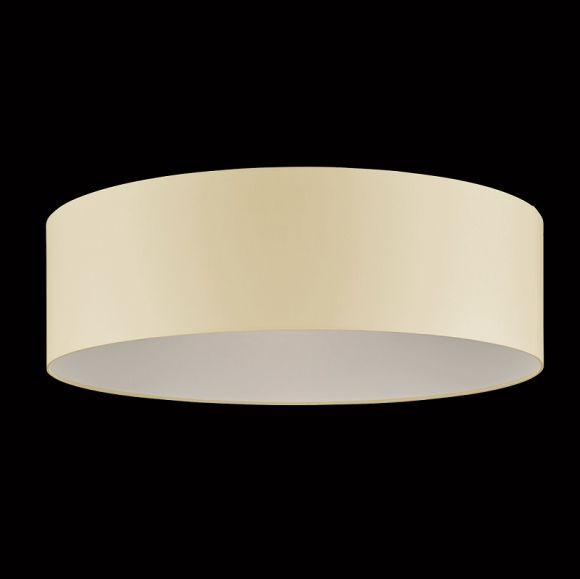 Runder Lampenschirm, Chintz Stoffschirm Textilschirm, creme 75 cm