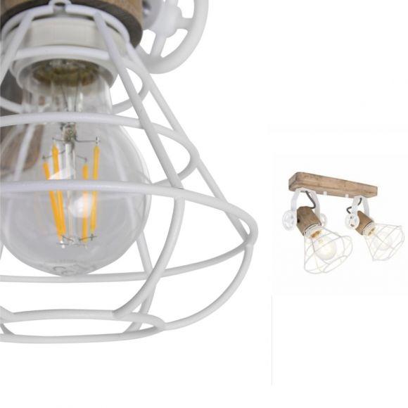 Rustikale Leuchte für Wand oder Decke Anne Geurnesey in weiß
