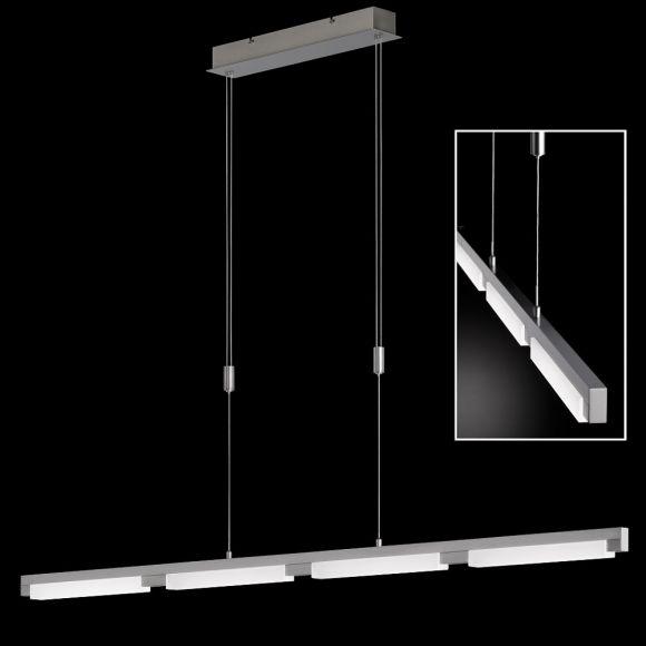Schlanke LED-Pendelleuchte Jim 4-flammig, 147 cm