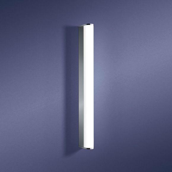 Schlanke LED-Wandleuchte in 2 Längen erhältlich - Lichtfarbe Warmweiß - Chrom - inklusive LED-Leuchtmittel