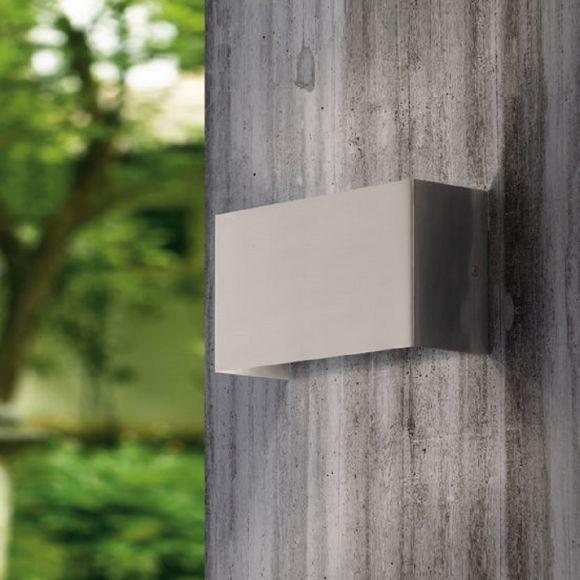 Schlichte LED-Wandleuchte Up&Down in Edelstahl