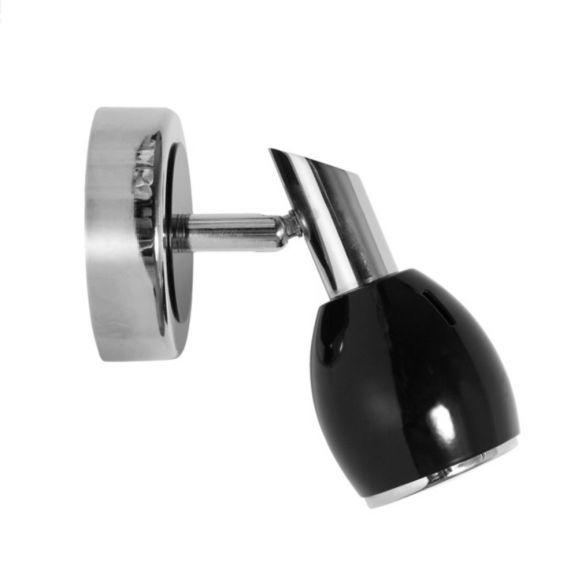 Schwarzer LED Deckenstrahler Colors, Chrom, verschiedene Ausführungen