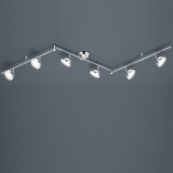 Schwenkbarer LED-Deckenstrahler verchromt, inkl. 6 x 3,8W
