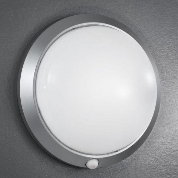 Sensorleuchte in Silber, 30 cm, mit Infrarotsensor
