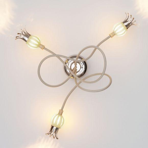 Serien-Lighting 3-flammige Wandleuchte Poppy