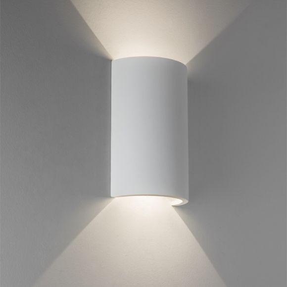 Serifos LED-Wandleuchte aus Gips, 2x3Watt LED
