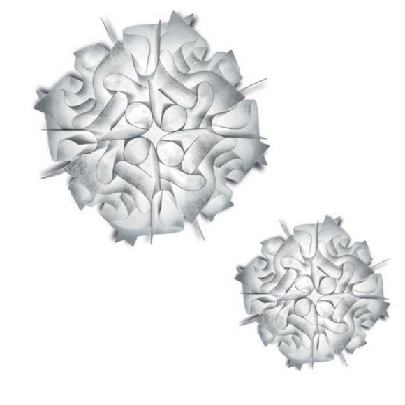 Slamp Veli Couture in brushed white für Wand oder Decke