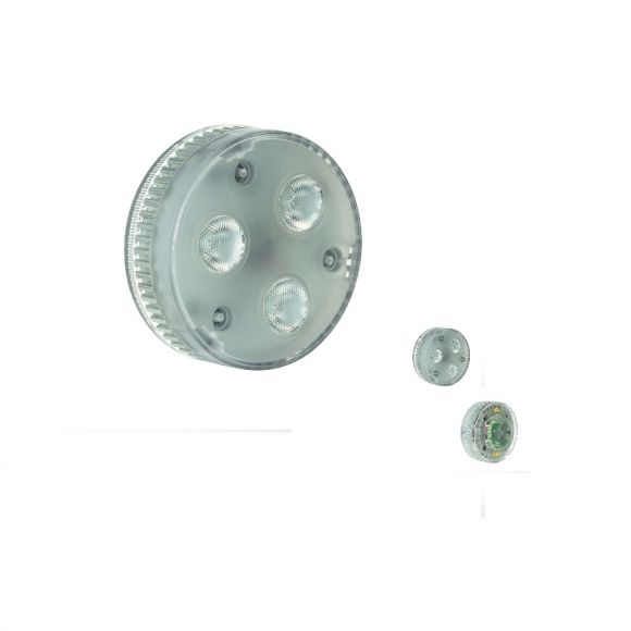 S.L.V. GX53 LED Leuchtmittel EEK A, 4,2W , warmweiß 3000°K, 200lm, 550cd, Abstrahlwinkel 35°