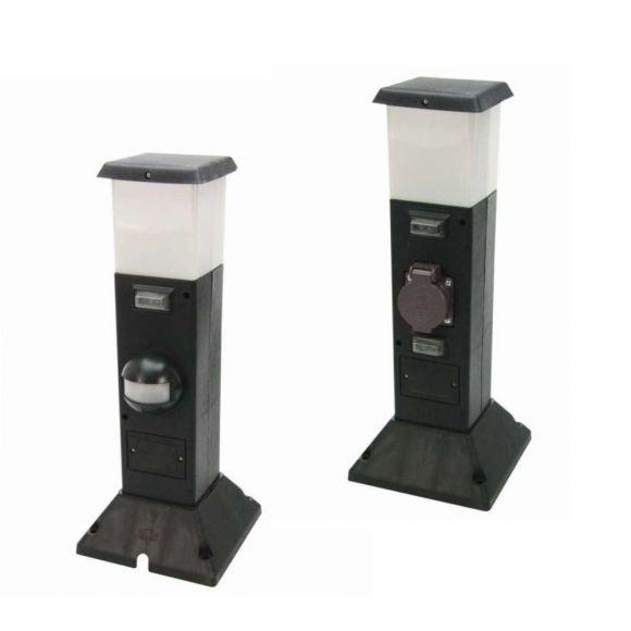 sockelleuchte shanghai mit steckdose mit oder ohne bewegungsmelder wohnlicht. Black Bedroom Furniture Sets. Home Design Ideas