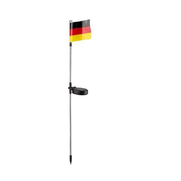 Solaraußenleuchte, Deutschlandfahne, Erdspieß, Höhe 76 cm