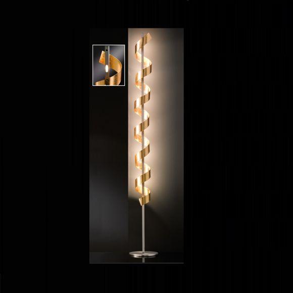 Spirale LED-Stehleuchte, gold