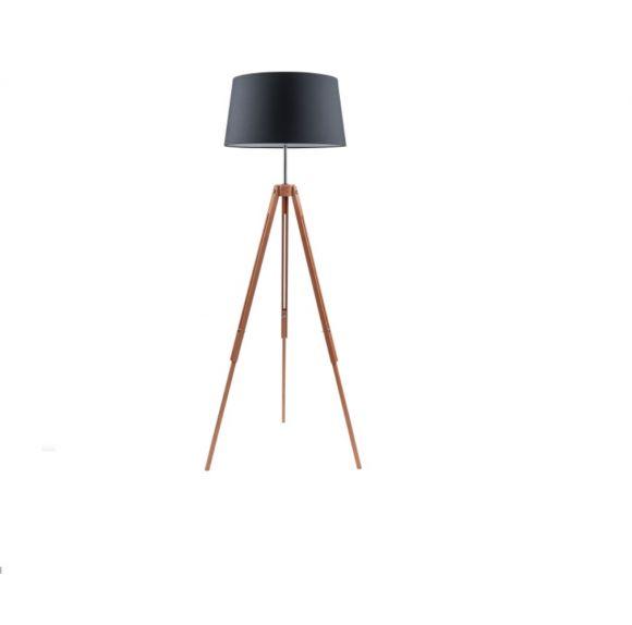 Stativlampe Tripod O 50cm Holz Buche Natur Textil Schirm