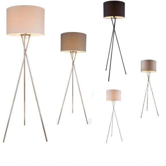 stehleuchte dreibein in vielen farbausf hrungen wohnlicht. Black Bedroom Furniture Sets. Home Design Ideas