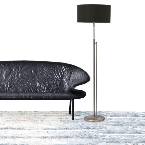 stehleuchte mit dimmer stoffschirm 40 cm 4 varianten wohnlicht. Black Bedroom Furniture Sets. Home Design Ideas