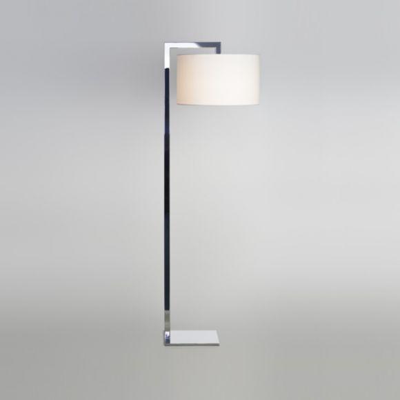 stehleuchte standfu in chrom mit stoffschirm in 3 farben wohnlicht. Black Bedroom Furniture Sets. Home Design Ideas