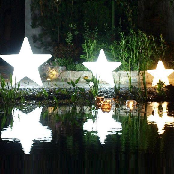 Stern-Dekoleuchte in 3 Größen, In- & Outdoor