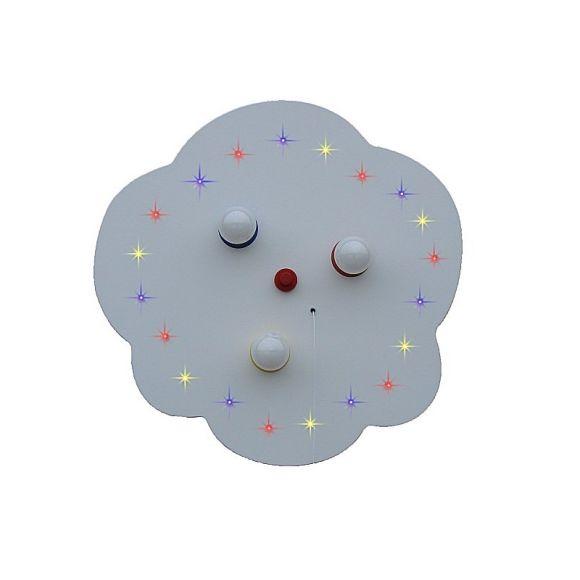Sternen-Wolke in weiß mit farbigen LED- Sternenhimmel