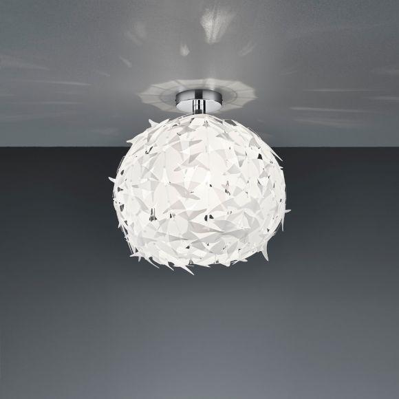 Stilvolle Deckenleuchte aus weißem Kunststoff - für E27 Leuchtmittel maximal 60 Watt