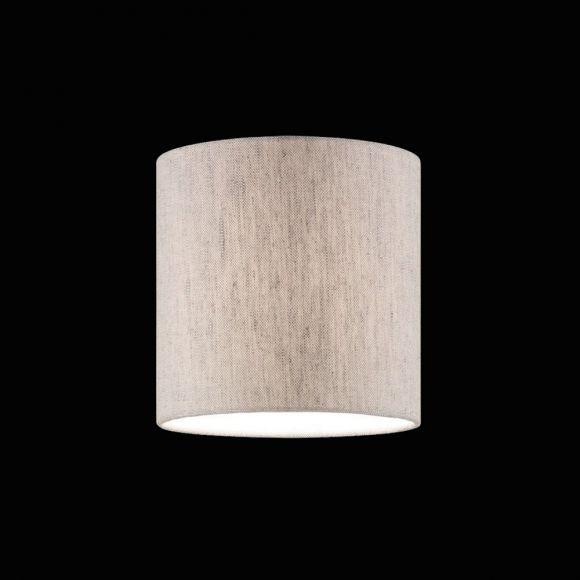 Stoffschirm Leinen sandfarbig, Textilschirm Ø18 cm, Lampenschirm Höhe 18 cm