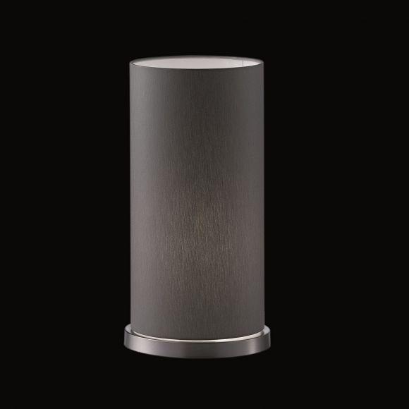 Stofftischleuchte Zylinder 34cm Höhe in Grau grau