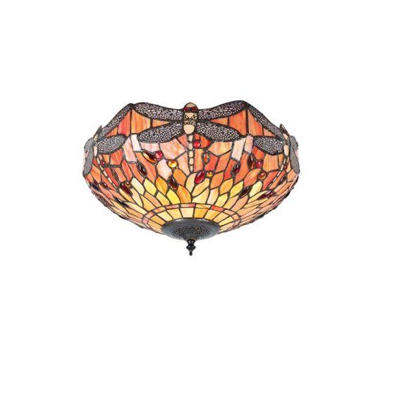 Tiffany Deckenleuchte Flame Dragonfly