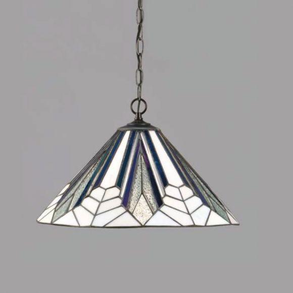Tiffany Pendelleuchte Astoria in moderner Farbkombination