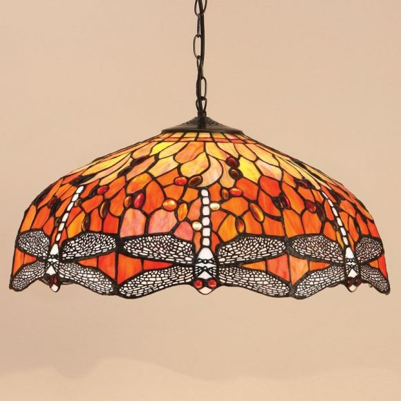 Tiffany Pendelleuchte Flame Dragonfly - Large