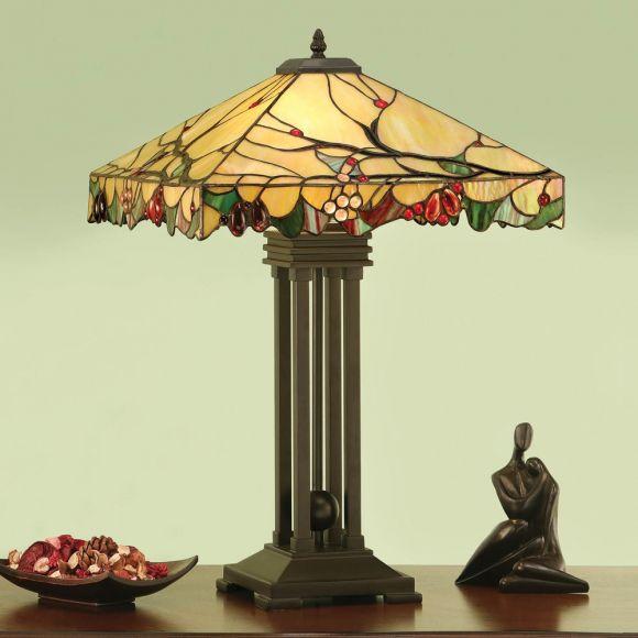 Tischleuchte Arbois im Tiffany Stil