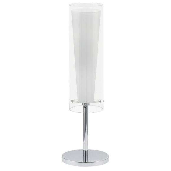 tischleuchte aus opalglas und klarem glas wohnlicht. Black Bedroom Furniture Sets. Home Design Ideas