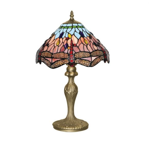 Tischleuchte Dragonfly im Tiffanystil