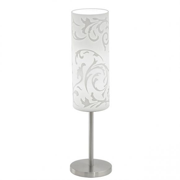 tischleuchte glas mit floralem muster bedruckt wohnlicht. Black Bedroom Furniture Sets. Home Design Ideas