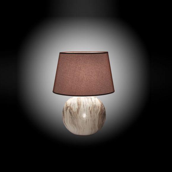 Tischleuchte, Keramik, Marmoroptik, 48cm o. 60cm hoch