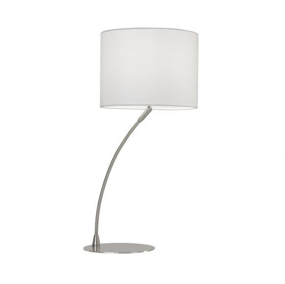 tischleuchte mit schwenkbarem stoffschirm wohnlicht. Black Bedroom Furniture Sets. Home Design Ideas